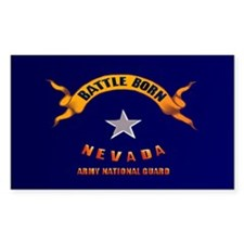 Battle Born Nevada Rectangle Sticker 10 pk)