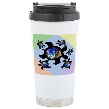 Earthly Turtles Ceramic Travel Mug