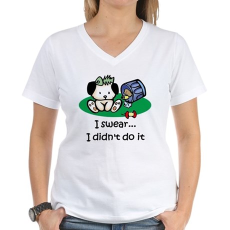 I swear I didn't do it Women's V-Neck T-Shirt