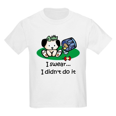 I swear I didn't do it Kids Light T-Shirt