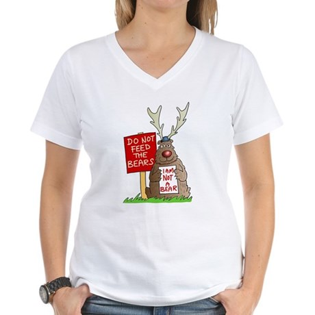 Do Not Feed the Bears Women's V-Neck T-Shirt