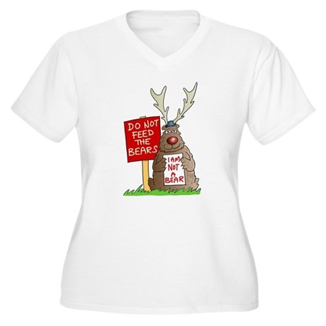Do Not Feed the Bears Women's Plus Size V-Neck T-S