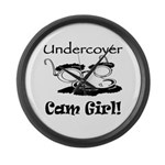 Undercover Cam Girl Large Wall Clock
