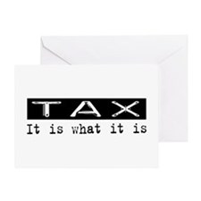 Tax Is Greeting Card