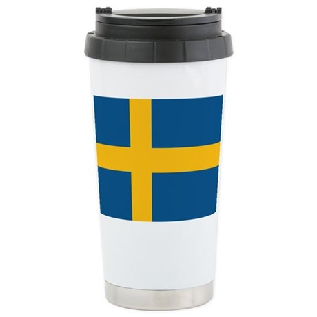 Flag of Sweden Ceramic Travel Mug