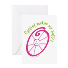 Happy Cycling Greeting Card