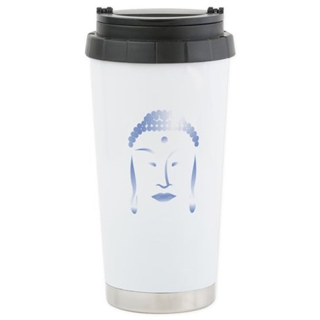 Buddha Head Ceramic Travel Mug