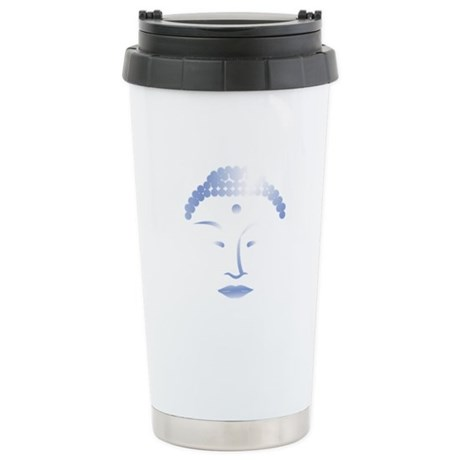 Buddha Head 2 Ceramic Travel Mug