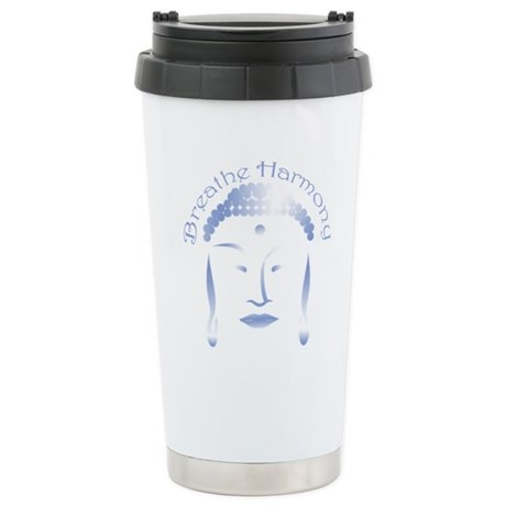 Buddha Head 3 Ceramic Travel Mug