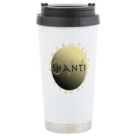Om Shanti Ceramic Travel Mug