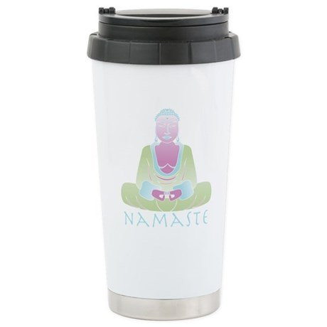 Yoga Buddha 5 Ceramic Travel Mug