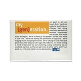 Cute My generation Rectangle Magnet (10 pack)