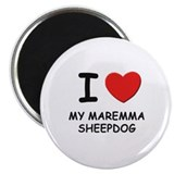 "I love MY MAREMMA SHEEPDOG 2.25"" Magnet (10 pack)"