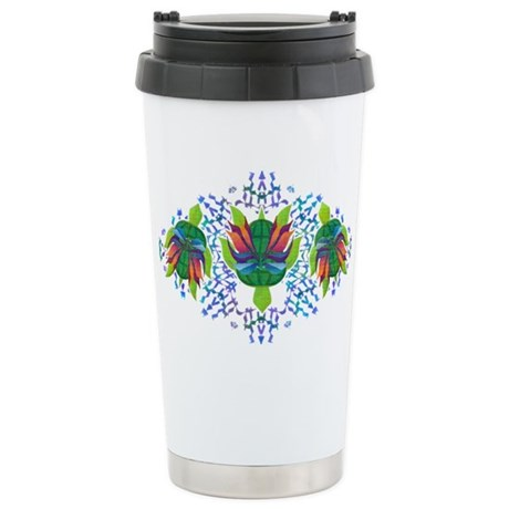 Flying Turtle Ceramic Travel Mug
