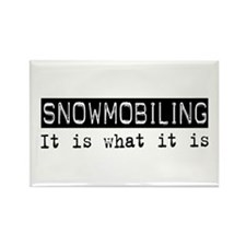 Snowmobiling Is Rectangle Magnet