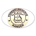 Forest Reserve Oval Sticker