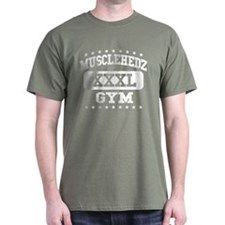 MUSCLEHEDZ XXXL GYM - Army Green T-Shirt