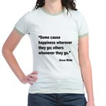 Wilde Happiness Quote Jr. Ringer T-Shirt