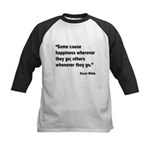 Wilde Happiness Quote Kids Baseball Jersey