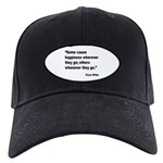 Wilde Happiness Quote Black Cap