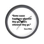 Wilde Happiness Quote Wall Clock
