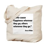 Wilde Happiness Quote Tote Bag