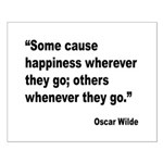Wilde Happiness Quote Small Poster