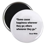 Wilde Happiness Quote Magnet