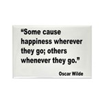 Wilde Happiness Quote Rectangle Magnet (10 pack)
