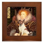 Queen/Fox Terrier (#S4) Framed Tile