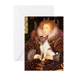 Queen/Fox Terrier (#S4) Greeting Cards (Pk of 20)