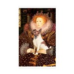Queen/Fox Terrier (#S4) Sticker (Rectangle 50 pk)