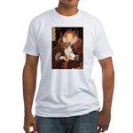 Queen/Fox Terrier (#S4) Fitted T-Shirt