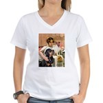 Cleopatra-Sammy/Libby Women's V-Neck T-Shirt