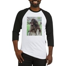 Cute Black and white dog photos Baseball Jersey