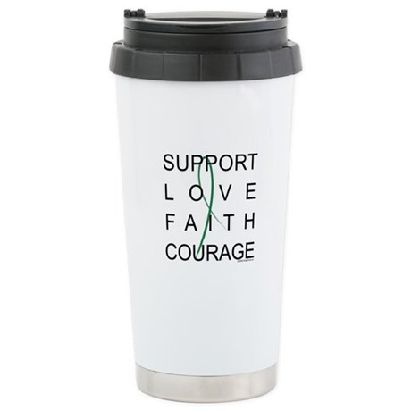 Support Block Text Ceramic Travel Mug