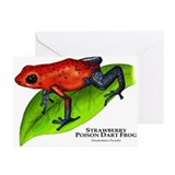 Strawberry Poison Dart Frog Greeting Cards (Pk of