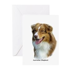 Australian Shepherd 9K4D-16 Greeting Cards (Pk of