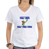 Half Man Half Tree Frog Shirt