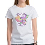 Bengbu China Map Women's T-Shirt