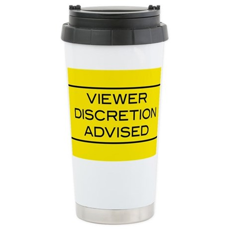 Viewer Discretion Advised Ceramic Travel Mug