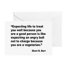 Life Expectations Quote Greeting Card