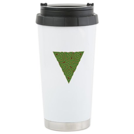 Arboreal Triangle Knot Ceramic Travel Mug