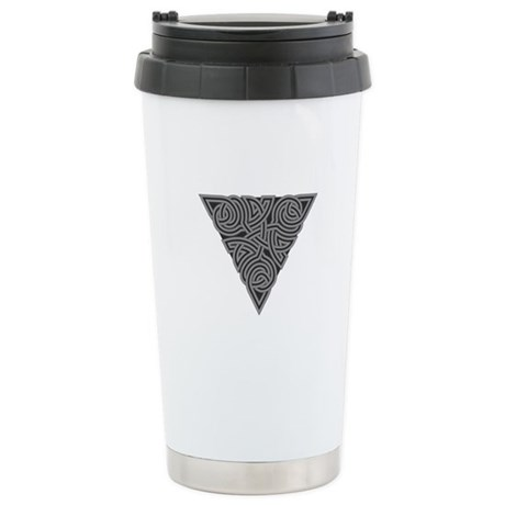 Charcoal Triangle Knot Ceramic Travel Mug