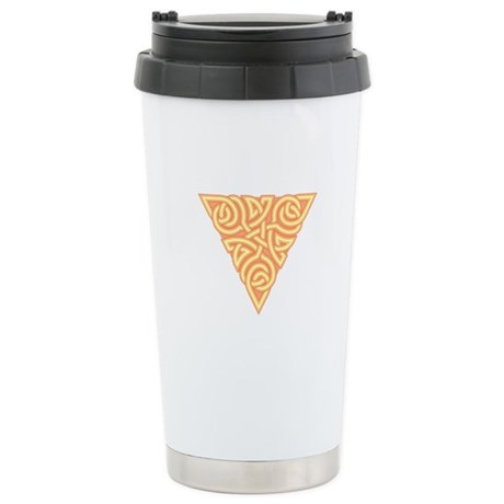 Sunny Triangle Knot Ceramic Travel Mug