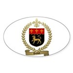 DUBUC Family Crest Oval Sticker