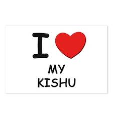 I love MY KISHU Postcards (Package of 8)