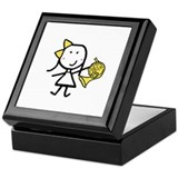 Girl & French Horn Keepsake Box