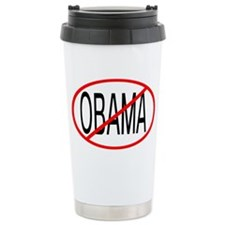 No Obama Ceramic Travel Mug