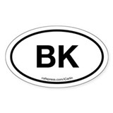 Brooklyn Acronym Oval Decal